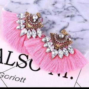 Other - ⚡️FLASH SALE 3/27⚡️Boho Pink Tassel Earrings NEW